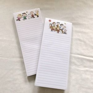 Snoopy Peanuts magnetic notepads -2 NEW!